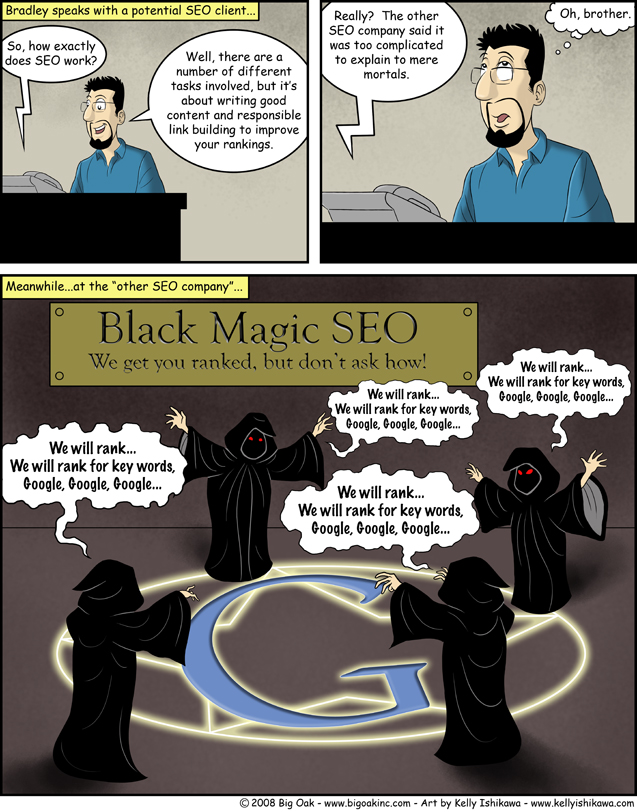 Black Magic SEO vs Logic