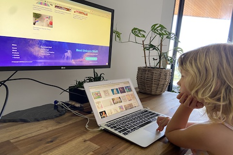 Working As A Family To Build Website About Unicorns