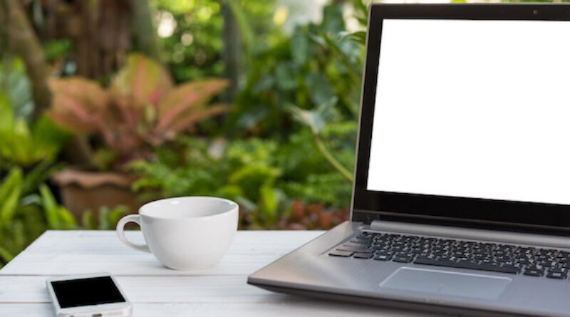 outdoor office space for working from home